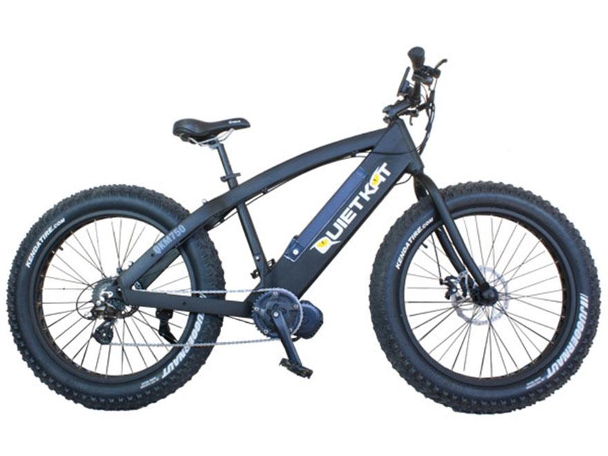 QuietKat 750W Motorized FatKat Bike with External Motor and Chain Drive Black