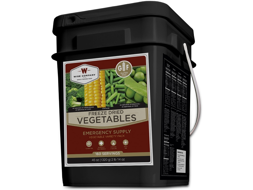 Wise Company Gluten Free 160 Serving Vegetable Freeze Dried Food Kit