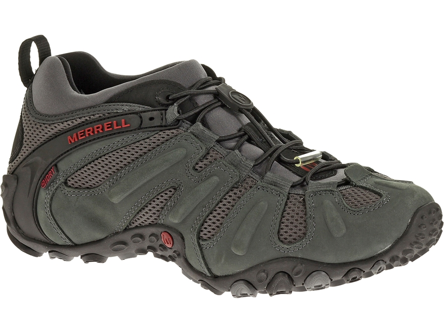 "Merrell Chameleon Prime Stretch 4"" Waterproof Hiking Shoes Leather/Mesh Men's"