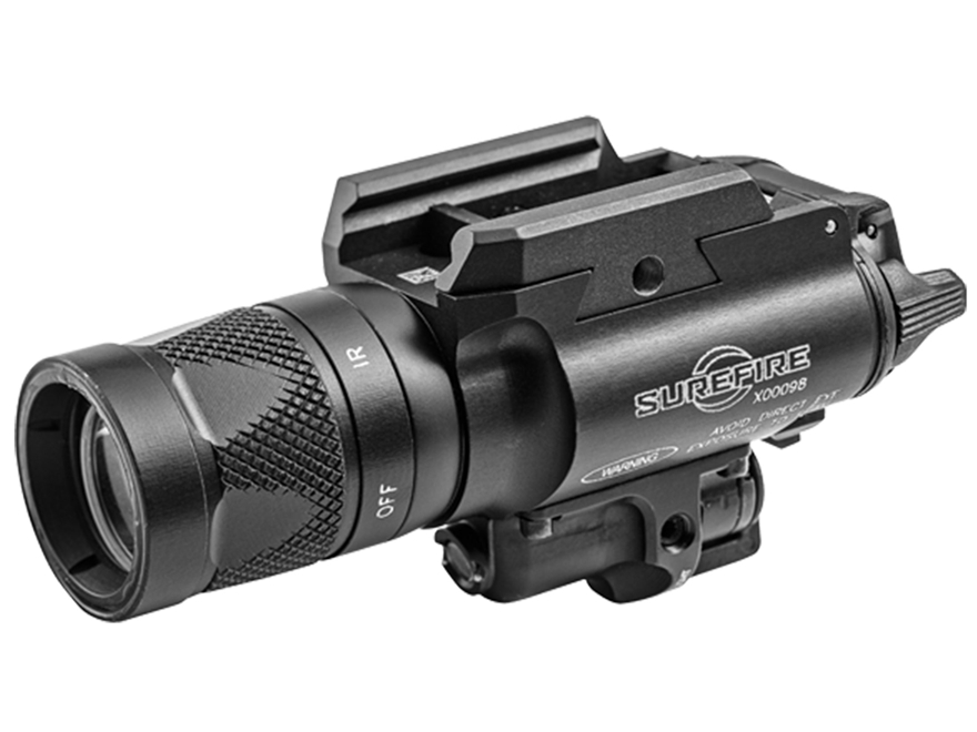 Surefire X400V Weaponlight White and IR LED with IR Laser with 2 CR123A Batteries Alumi...