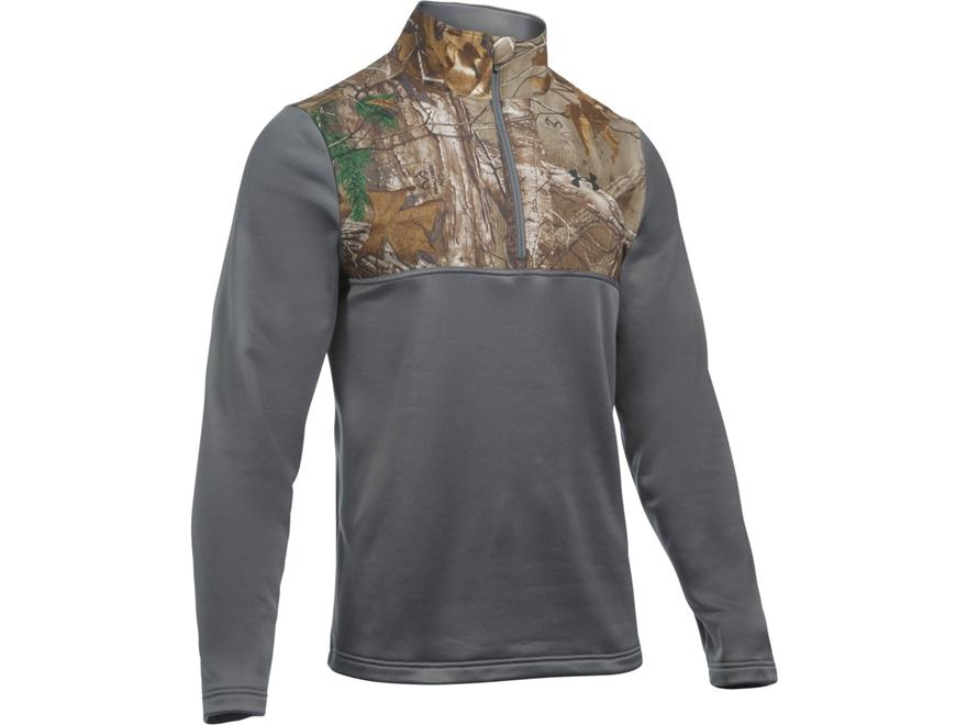 Under Armour Men's UA Caliber 1/4 Zip Shirt Long Sleeve Polyester