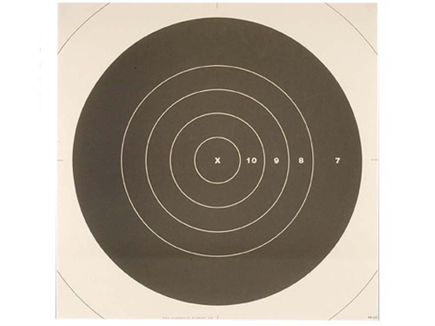 NRA Official High Power Rifle Targets Repair Center MR-63C 300 Yard Slow Fire Paper Pac...