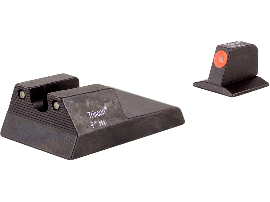 Trijicon HD Night Sight Set Ruger SR9C Steel Matte 3-Dot Tritium Green with Front Dot O...
