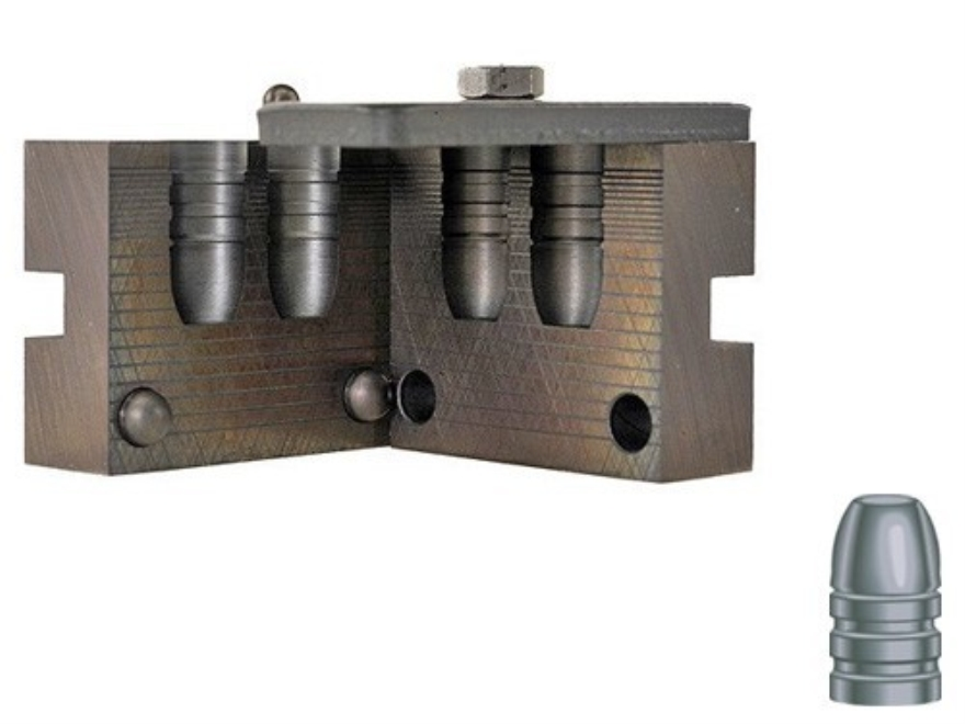 RCBS 2-Cavity Bullet Mold 45-325-FN-U 45 Caliber (458 Diameter) 325 Grain Flat Nose Uni...