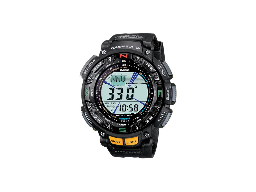 Casio Pathfinder Triple Sensor Solar Watch Resin Band Black