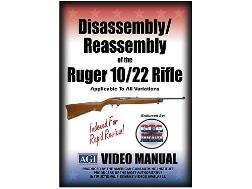 "American Gunsmithing Institute (AGI) Disassembly and Reassembly Course Video ""Ruger 10/..."