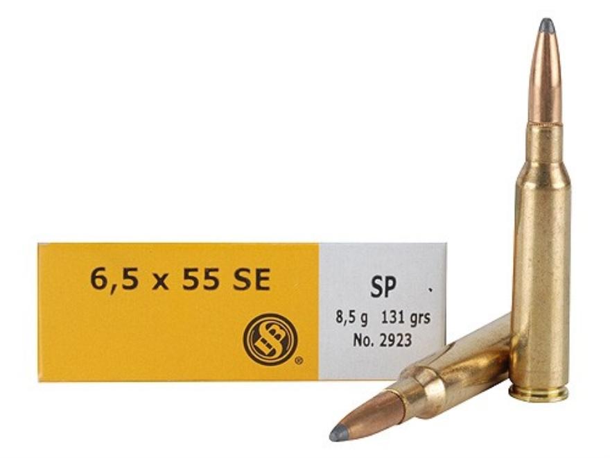 Sellier & Bellot Ammunition 6.5x55mm Swedish Mauser 131 Grain Soft Point Box of 20