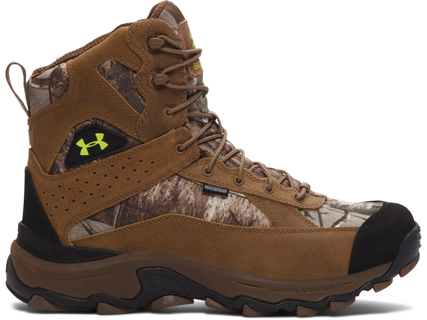 "Under Armour UA Speed Freek Bozeman 8"" Waterproof Uninsulated Hunting Boots Leather and..."