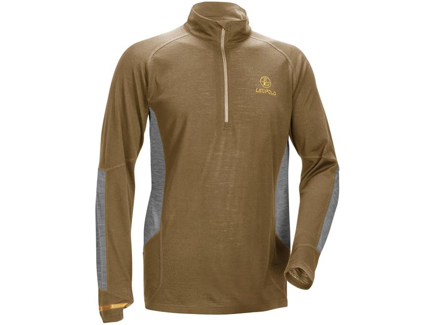 Leupold Men's Secluded 1/4 Zip Base Layer Shirt Long Sleeve Merino Wool
