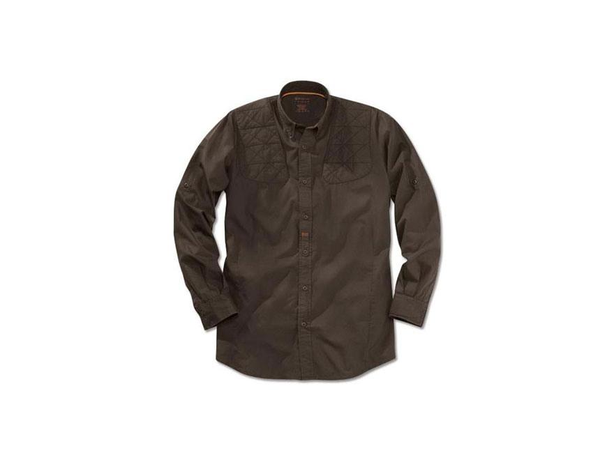 Beretta Light Shooting Shirt Long Sleeve Cotton Poplin Brown Large