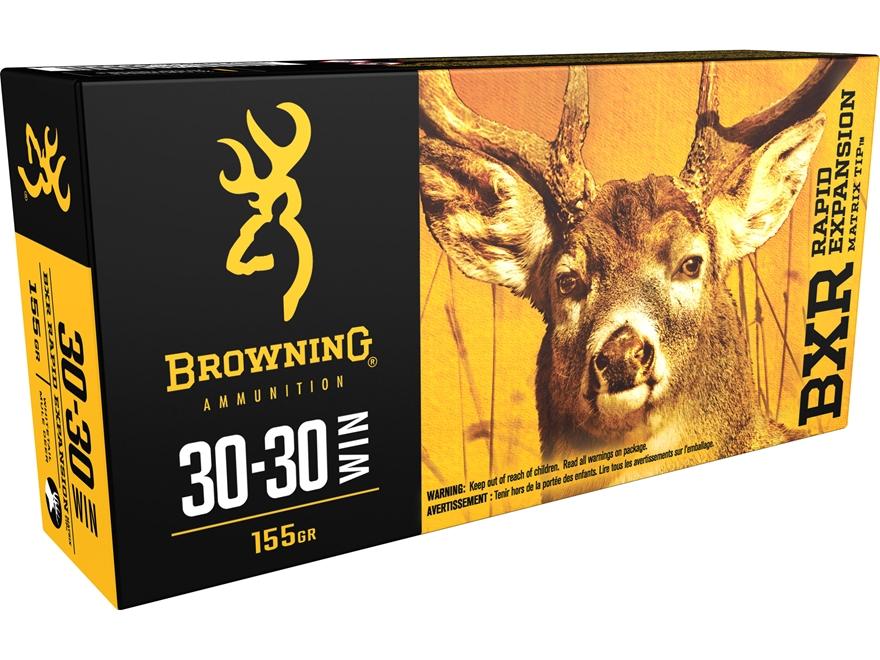 Browning BXR Rapid Expansion Ammunition 30-30 Winchester 155 Grain Matrix Tip