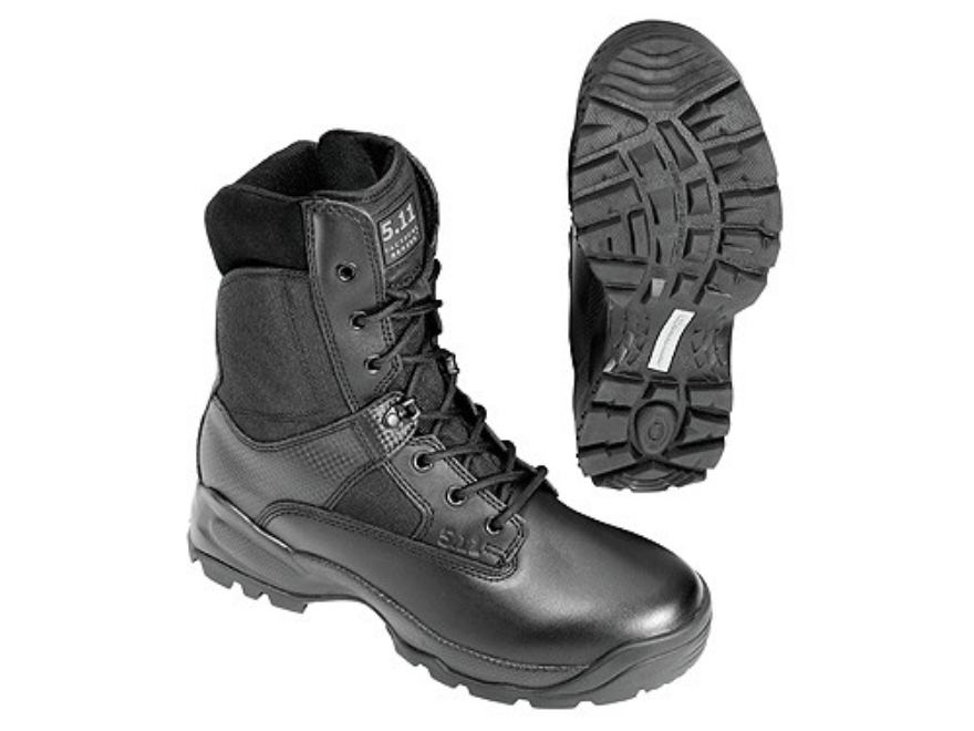 """5.11 ATAC 8"""" Uninsulated Tactical Boots Leather and Nylon Side Zip Black Men's"""
