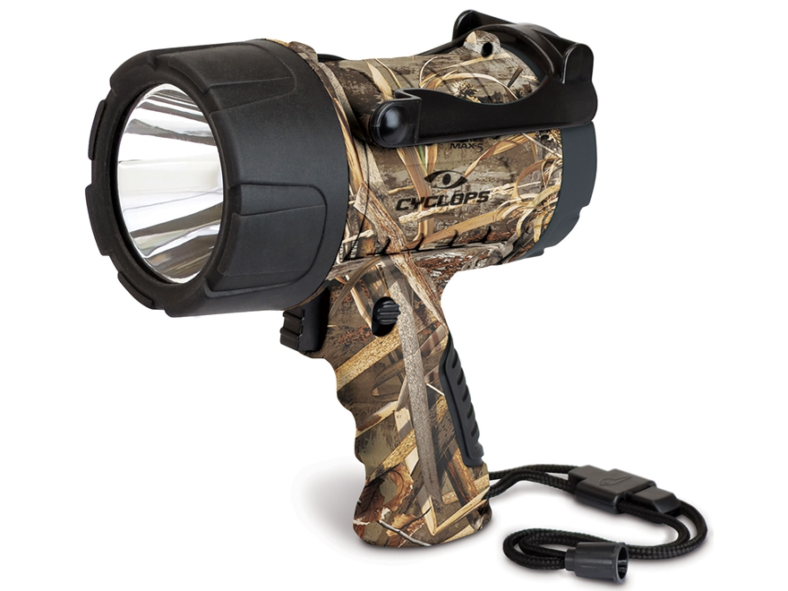Cyclops 350 Lumen Waterproof Spotlight LED requires 3 AA Batteries Polymer Realtree Max-5