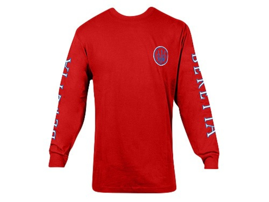 Beretta Men's Double Logo T-Shirt Long Sleeve Cotton