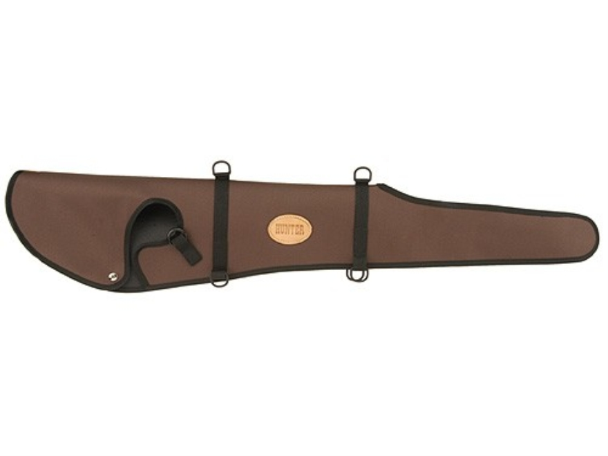 "Hunter 1290 Ruffstuff Scoped Rifle Scabbard Hooded End for 26"" Barrel Rifle Nylon Brown"