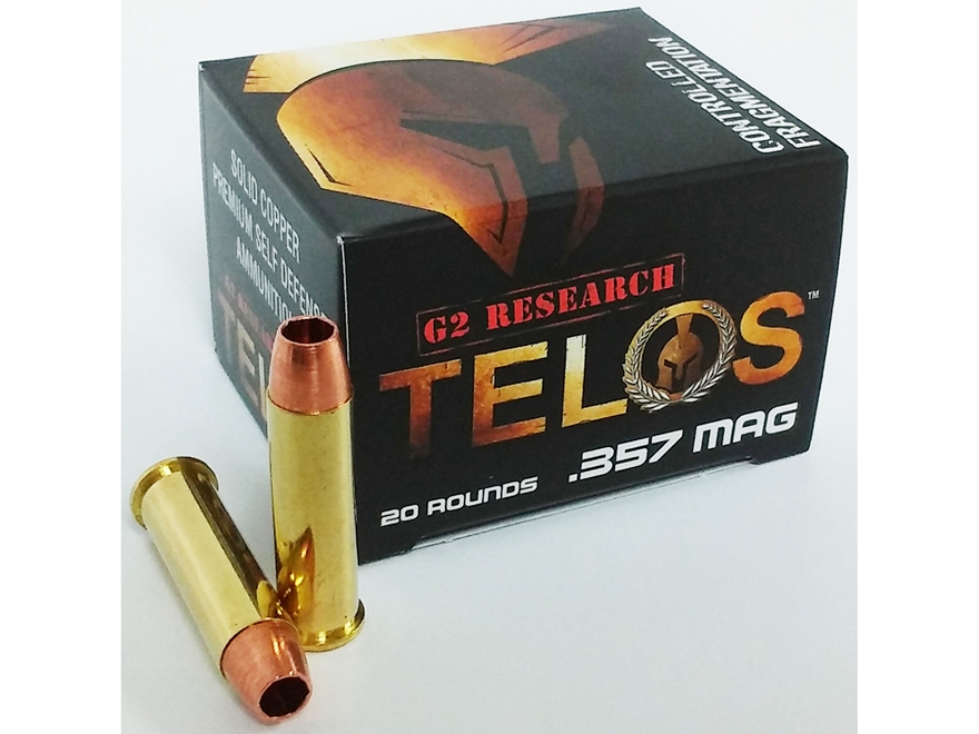 G2 Research Telos Ammunition 357 Magnum 105 Grain Controlled Fragmenting Hollow Point S...