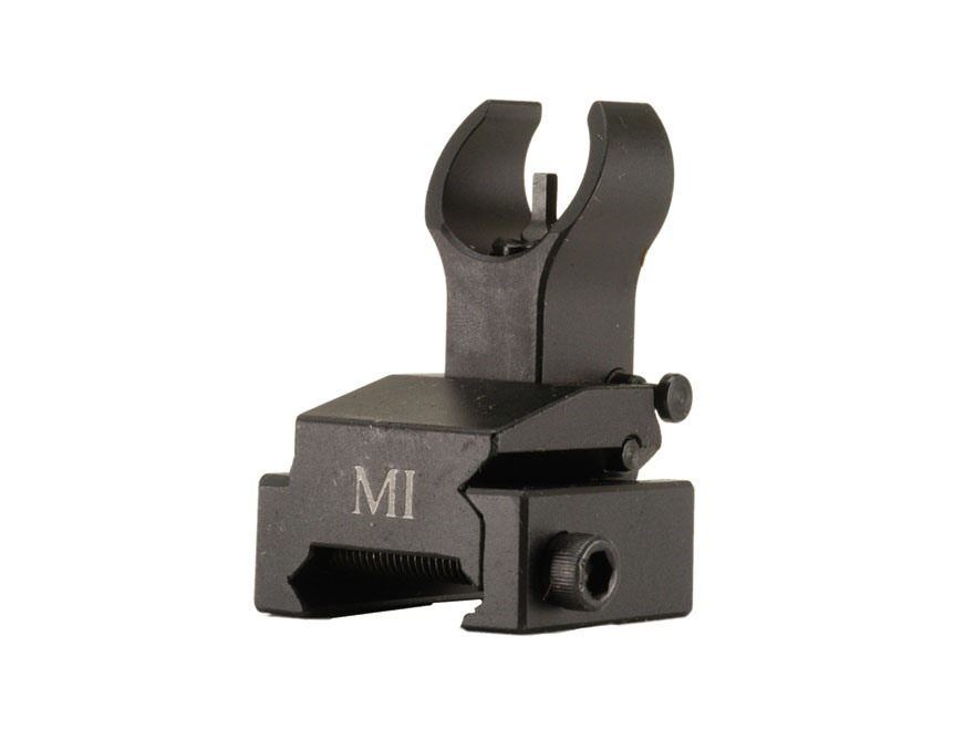 Midwest Industries Flip-Up Front Sight Handguard Height AR-15 Aluminum Black