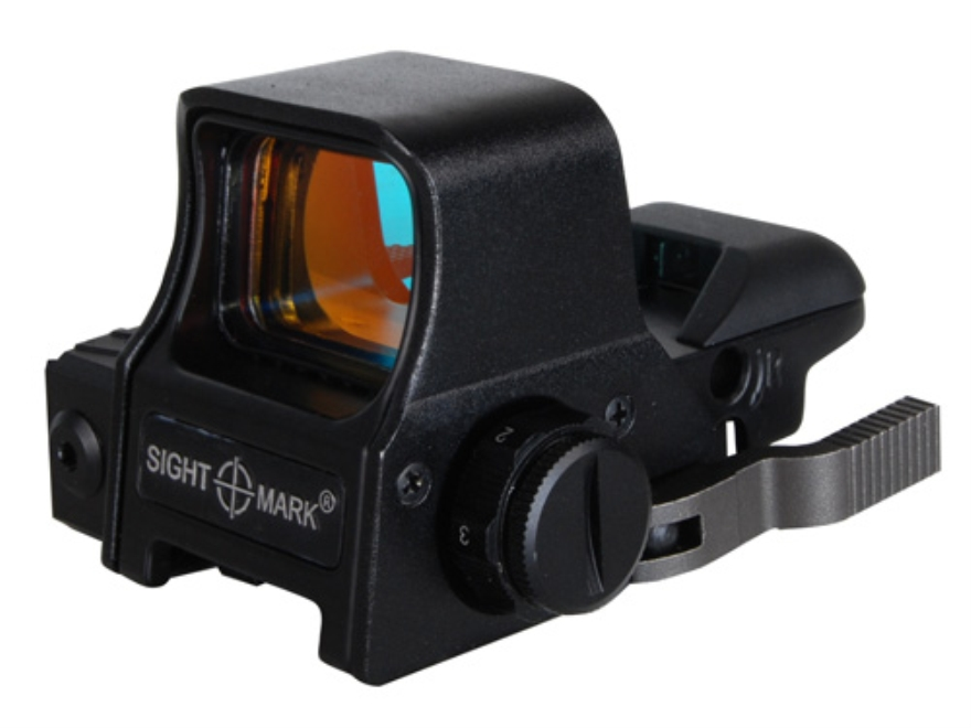 Sightmark Ultra Dual Shot Reflex Red Dot Sight 1x 3 MOA Dot, Crosshair, 10 MOA Dot Cros...
