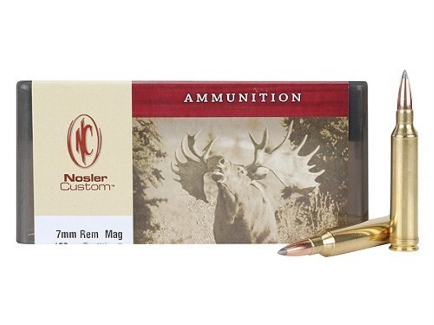 Nosler Custom Ammunition 7mm Remington Magnum 150 Grain Partition Spitzer Box of 20
