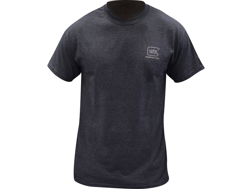 Glock Men's Pistol Sketch Logo T-Shirt Cotton Charcoal Heather