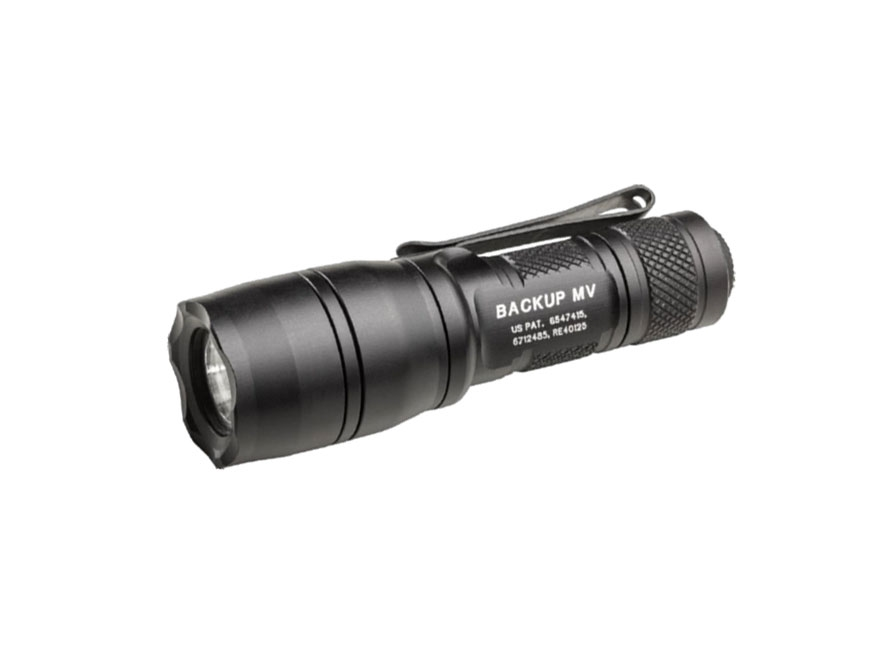Surefire EB1 Backup Flashlight with Max Vision Reflector LED with 1 CR123A Battery Clic...