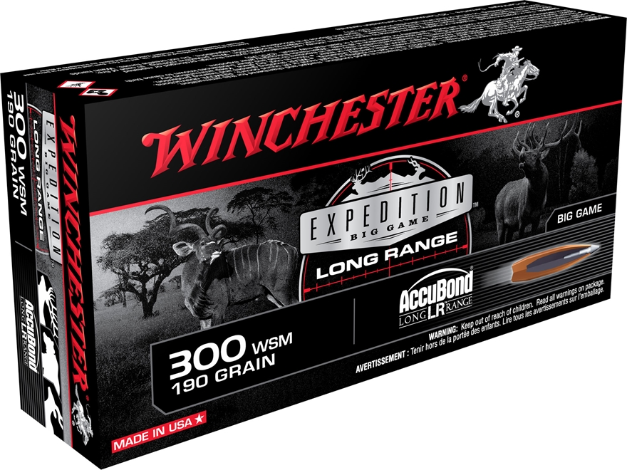 Winchester Expedition Big Game Long Range Ammunition 300 Winchester Short Magnum (WSM) ...