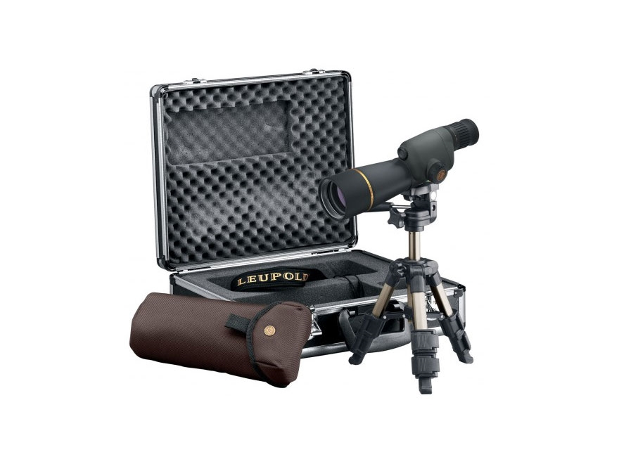 Leupold Golden Ring Compact Spotting Scope 15-30x 50mm Shadow Gray with Tripod and Alum...