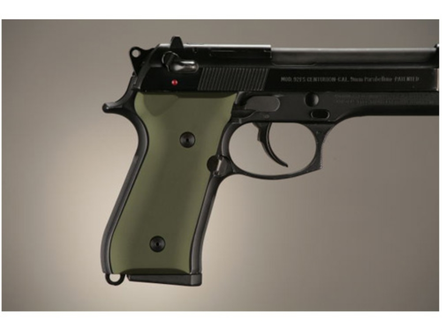 Hogue Extreme Series Grip Beretta 92F, 92FS, 92SB, 96, M9 Aluminum Matte Green