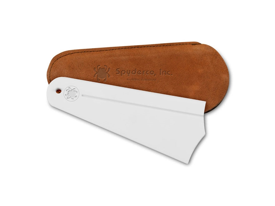 Spyderco Golden Sharpening Stone with Leather Pouch