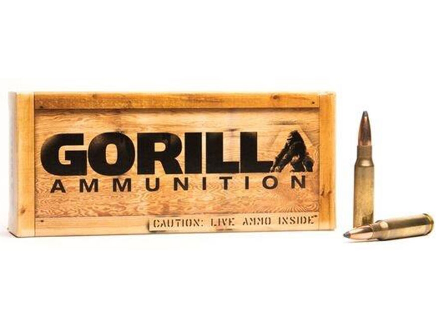 Gorilla Ammunition 308 Winchester 165 Grain Sierra GameKing Spitzer Boat Tail