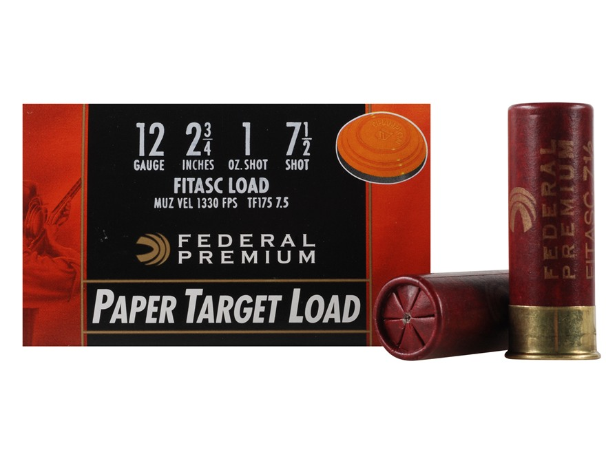 "Federal Premium Gold Medal Paper Ammunition 12 Gauge 2-3/4"" 1 oz #7-1/2 Shot Box of 25"