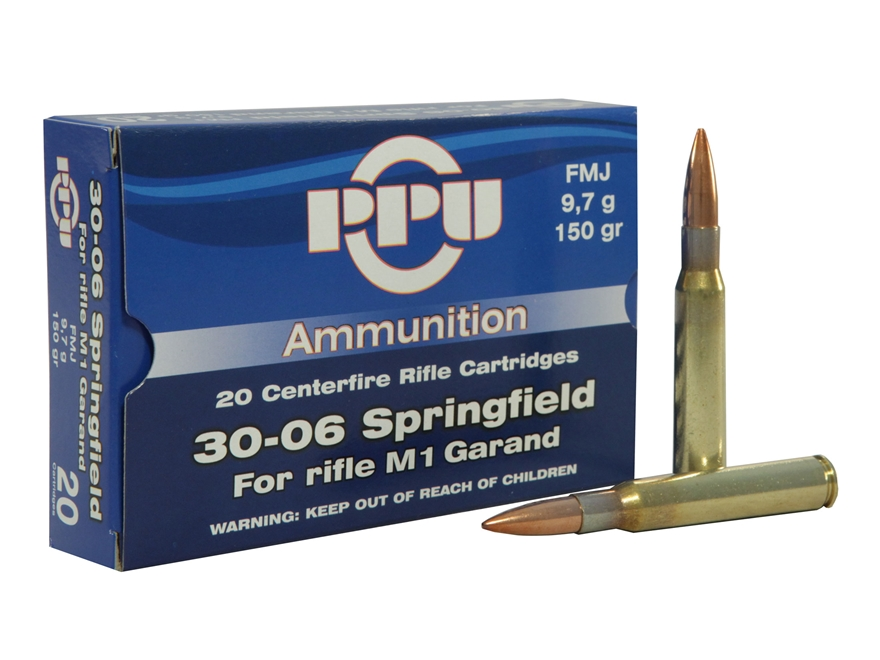 Prvi Partizan Ammunition 30-06 Springfield (M1 Garand) 150 Grain Full Metal Jacket Box ...
