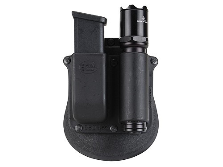 Fobus Paddle Single Magazine Pouch Double Stack 9mm, 40 S&W Magazine with SureFire 3P, ...