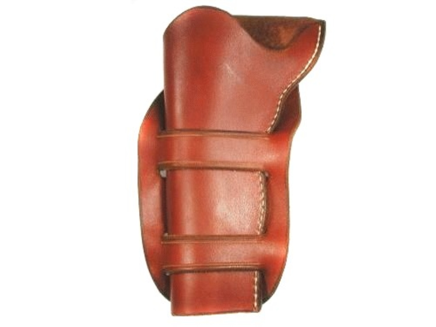"Van Horn Leather Mexican Double Loop Holster 5.5"" Single Action Left Hand Leather Chestnut"