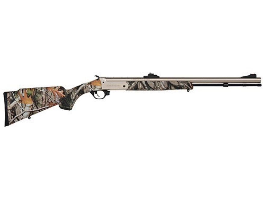 Traditions Buck Stalker Muzzleloading Rifle 50 Caliber Synthetic Stock Mossy Oak Break-...