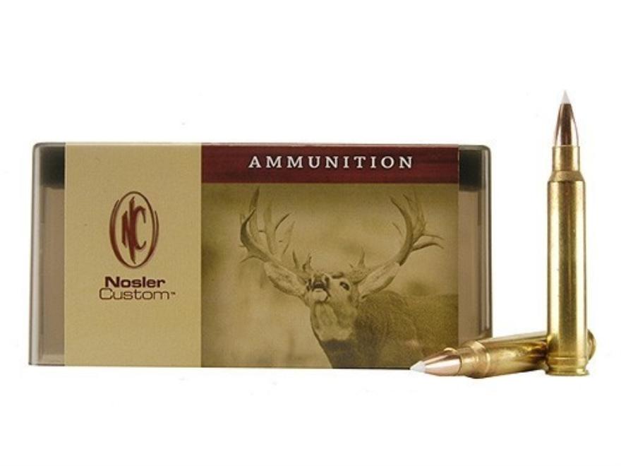 Nosler Custom Ammunition 8mm Remington Magnum 200 Grain AccuBond Spitzer Box of 20