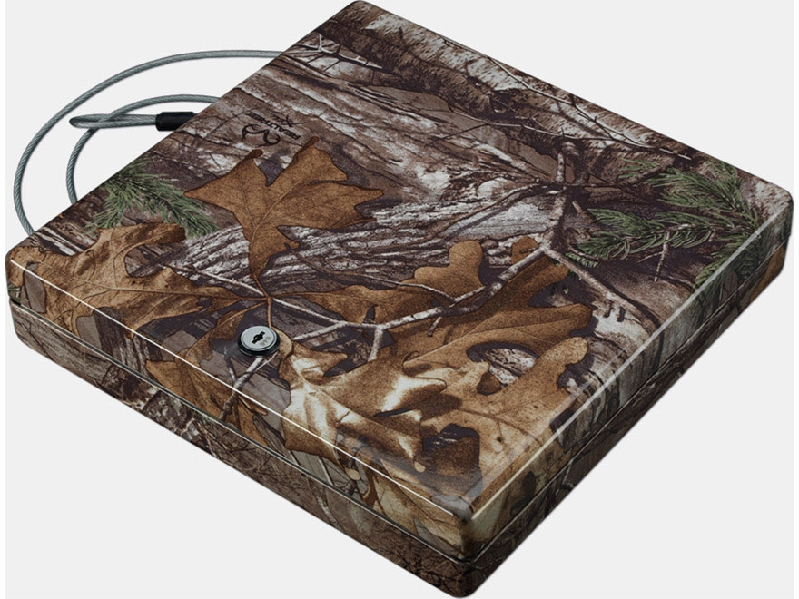 Stack-On Large Portable Security Case with Key Lock Realtree Xtra