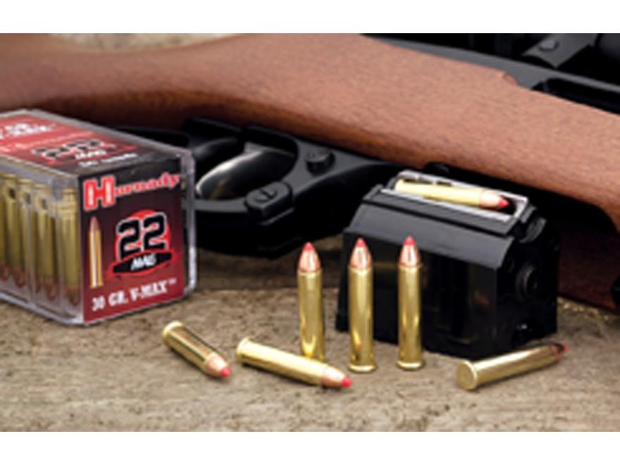 Hornady Varmint Express Ammunition 22 Winchester Magnum Rimfire (WMR) 30 Grain V-Max Bo...