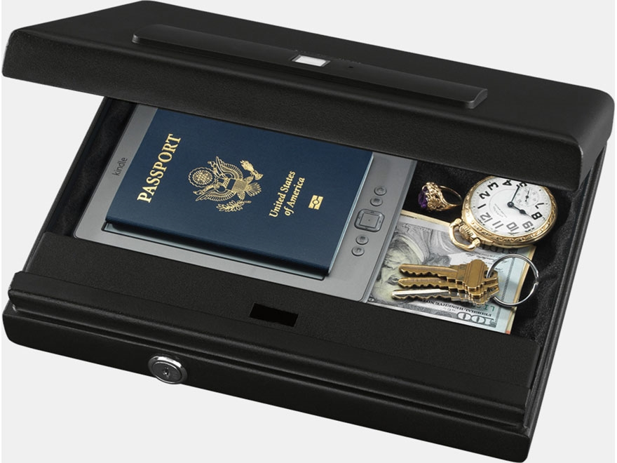 Stack-On Large Security Case with Biometric Lock Black