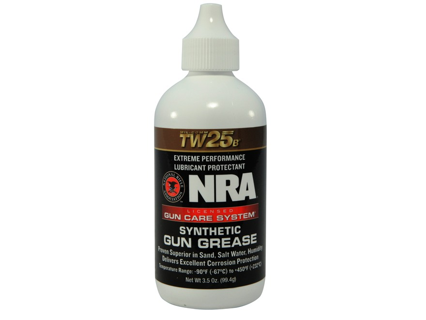 NRA Licensed Gun Care System By Mil-Comm TW25B Gun Grease 3-1/2 oz Bottle