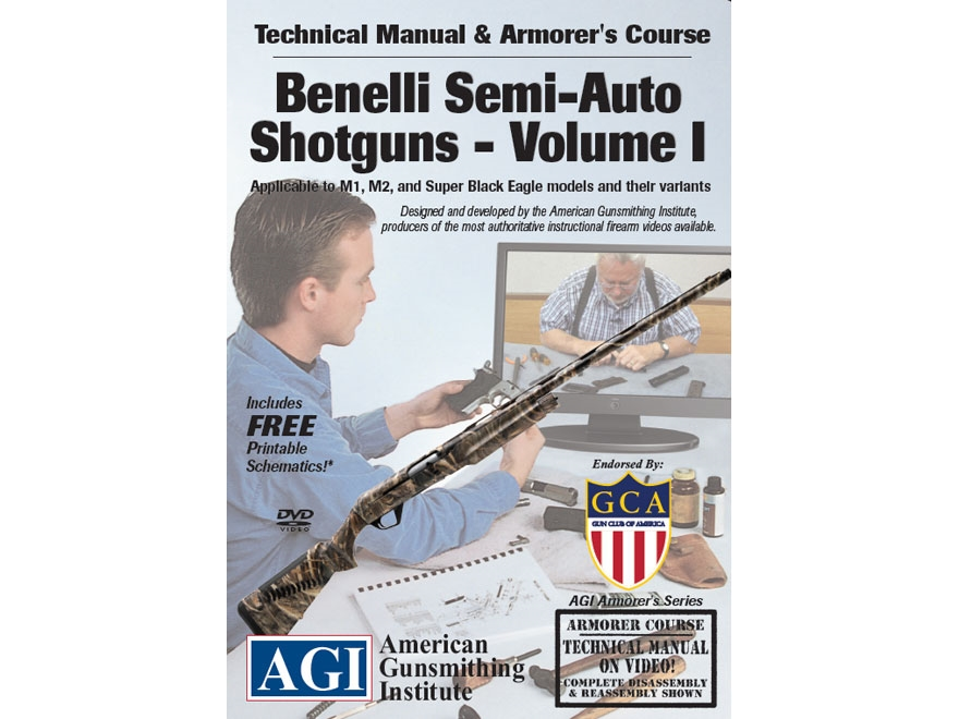 "American Gunsmithing Institute (AGI) Technical Manual & Armorer's Course Video ""Benelli..."