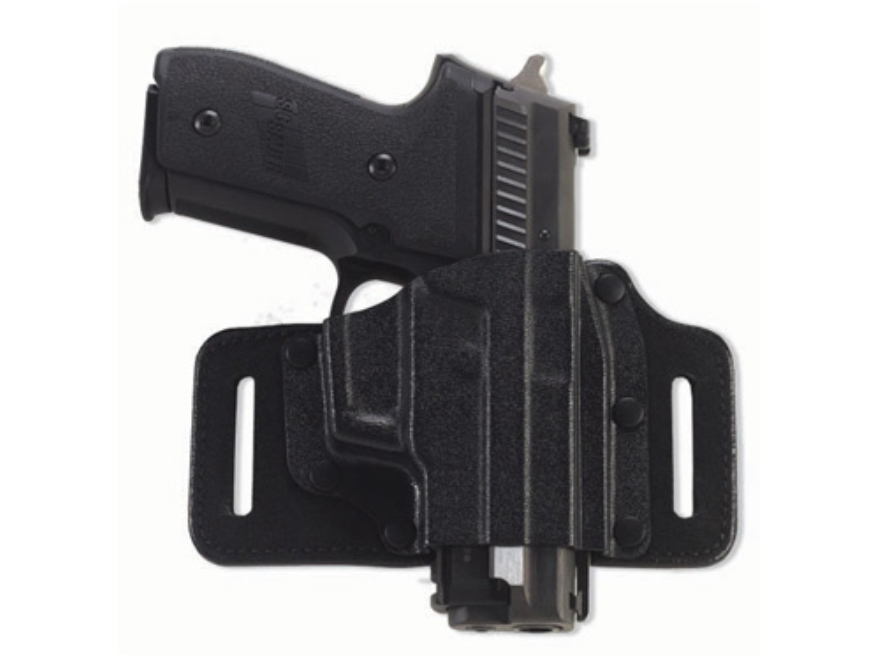 Galco Tac Slide Belt Holster Right Hand Glock 20, 21, 30 Leather and Kydex Black