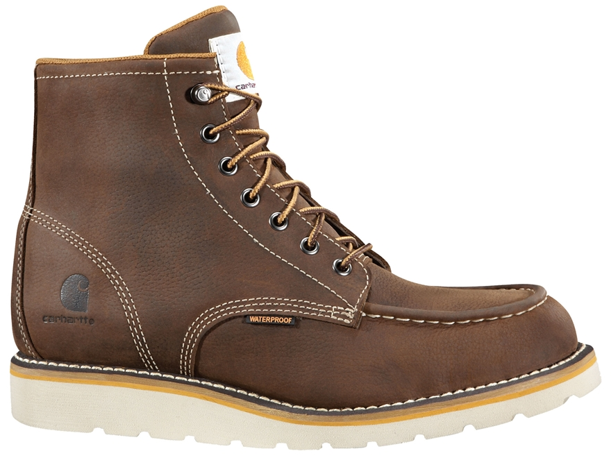 "Carhartt Wedge 6"" Waterproof Work Boots Leather"