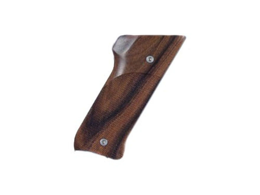 Hogue Fancy Hardwood Grips Ruger Mark II with Right Hand Thumbrest Checkered