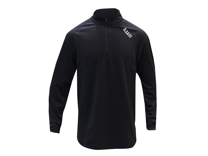 5.11 Men's Sub-Z 1/4 Zip Shirt  Long Sleeve Synthetic Blend Black Large
