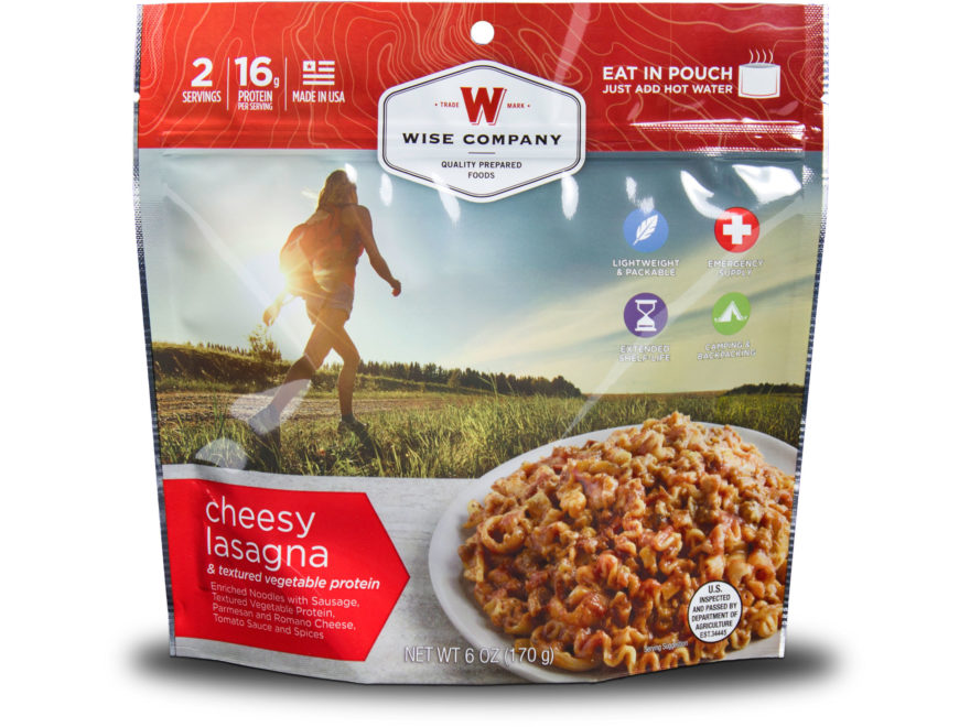 Wise Company Outdoor Cheesy Lasagna Freeze Dried Food Pack of 6