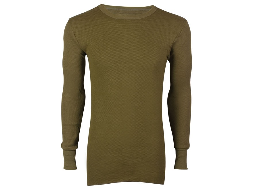 Indera Men's Hydropur Dual Face Fleece Performance Thermal Long Sleeve Shirt
