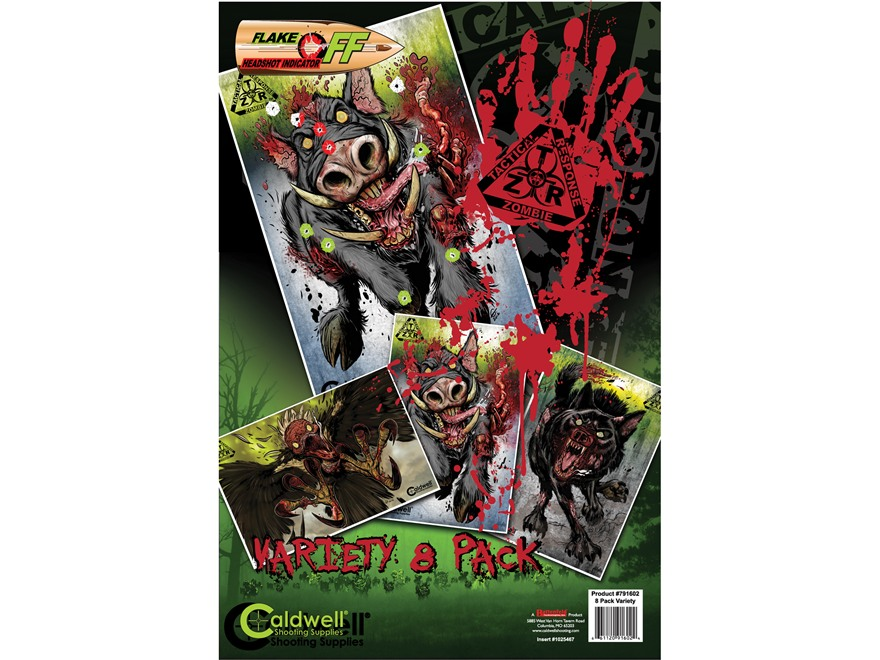 Caldwell ZTR Zombie Flake-Off Animal Combo Pack Target Package of 8
