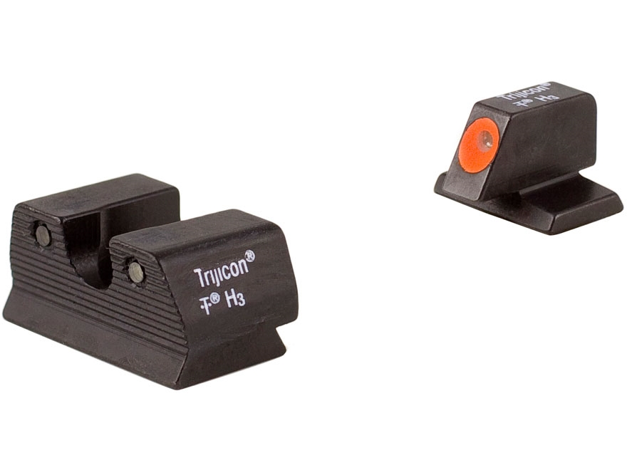 Trijicon HD Night Sight Set FN, FNX, FNS 40 S&W Steel Matte 3-Dot Tritium Green with Fr...