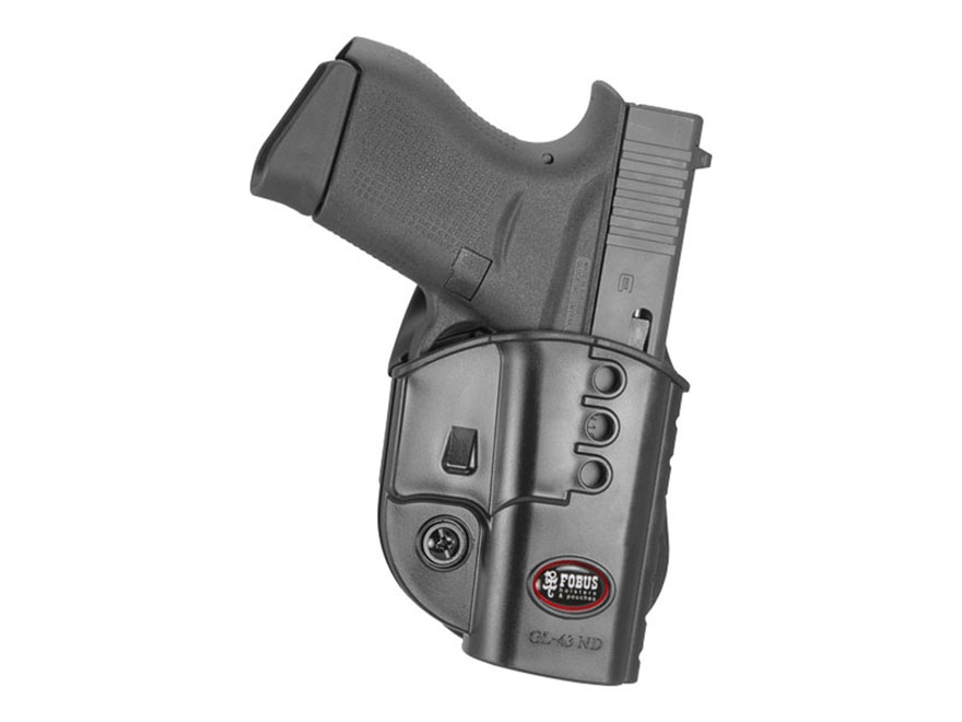 Fobus Evolution Paddle Holster Glock 43 Polymer Black